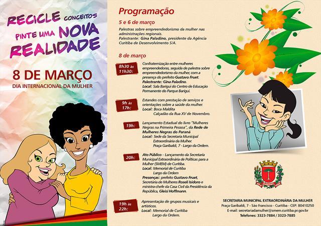8a6dbd16d40 Atividades da prefeitura marcam o Dia da Mulher - Prefeitura de Curitiba