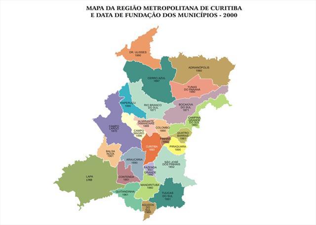 O Ippuc (Instituto de Pesquisa e Planejamento Urbano de Curitiba) está desenvolvendo um projeto de georreferenciamento, com uma base de dados contendo informações confiáveis de 18 das 29 cidades que integram a Região Metropolitana de Curitiba. Ilustração: IPPUC