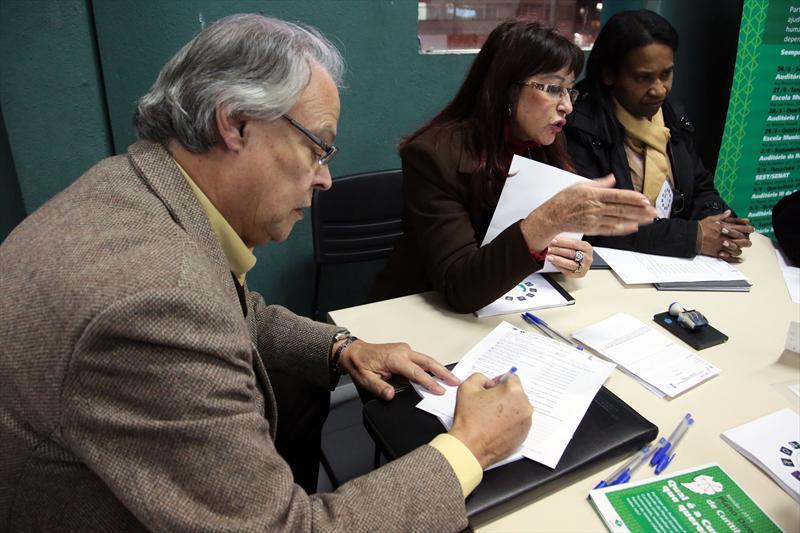 Audiência pública de apresentação do Plano Diretor, realizada na Regional Matriz. Curitiba, 02/06/2014 Foto: Jaelson Lucas/SMCS