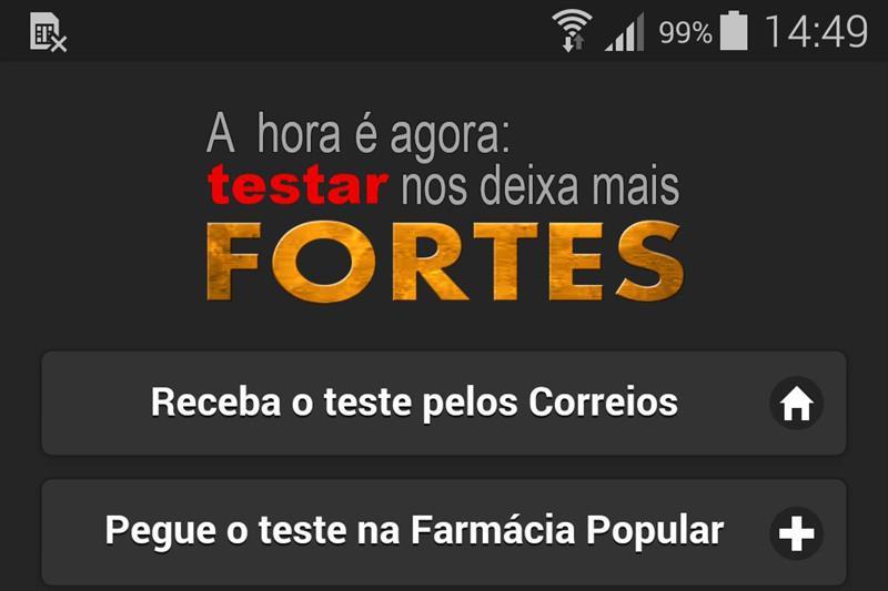 A partir desta sexta-feira (24), a população de Curitiba contará com uma nova opção para fazer o teste de HIV. Foto: Divulgação