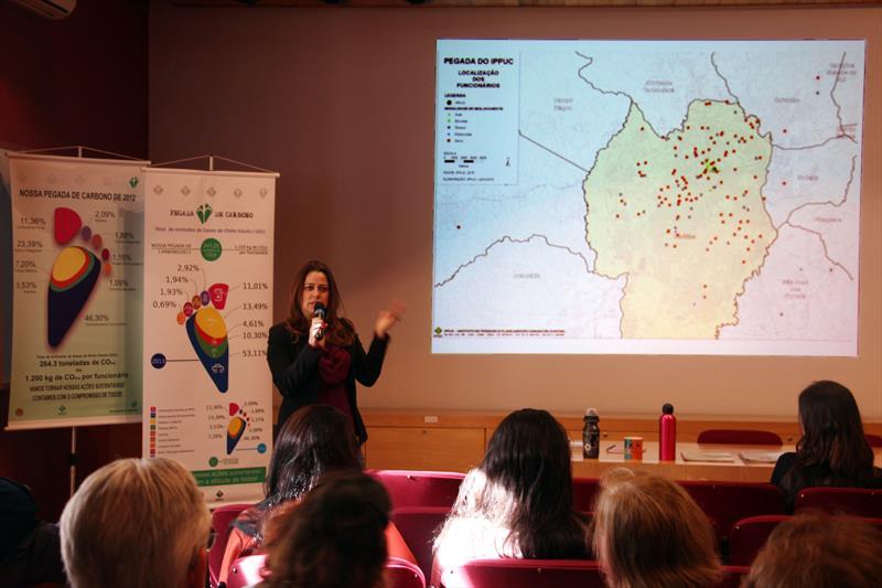 A medição da Pegada de Carbono realizada pelo Instituto de Pesquisa e Planejamento Urbano de Curitiba (Ippuc). Foto: Lucilia Guimarães