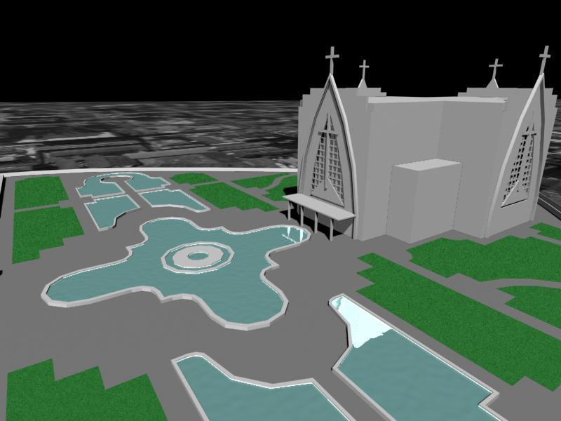 A área em que está localizado o Santuário Nossa Senhora de Guadalupe, em Curitiba, será revitalizada e transformada em um polo de turismo religioso nacional. Ilustração:IPPUC