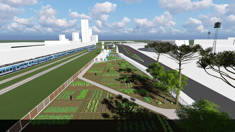 Curitiba ganhará Centro de Agricultura Urbana e Economia Criativa. -Na imagem, projeto do IPPUC. Curitiba, 11/07/2017 Ilustração:IPPUC
