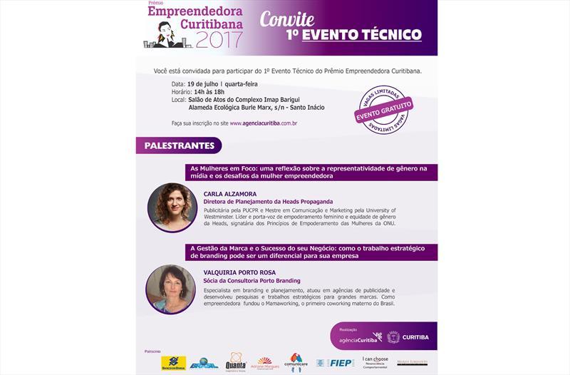 Palestra gratuita sobre empreendedorismo feminino.
