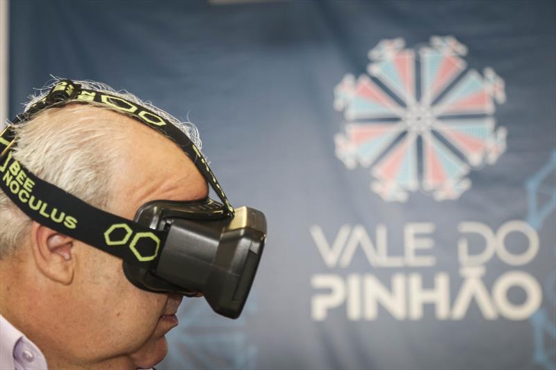 Prefeito Rafael Greca no Conecta Engenho, evento que faz parte das ações do Vale do Pinhão para incentivar empresas inovadoras. Curitiba, 01/04/2107. Foto: Pedro Ribas/SMCS