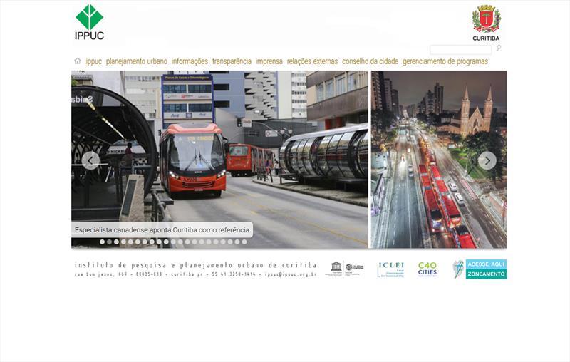 No portal do Instituto de Pesquisa e Planejamento Urbano de Curitiba (Ippuc), o www.ippuc.org.br, estão disponíveis diferentes sistemas de informação e estatísticas que dão suporte ao planejamento de Curitiba e também da Região Metropolitana. Divulgação/IPPUC