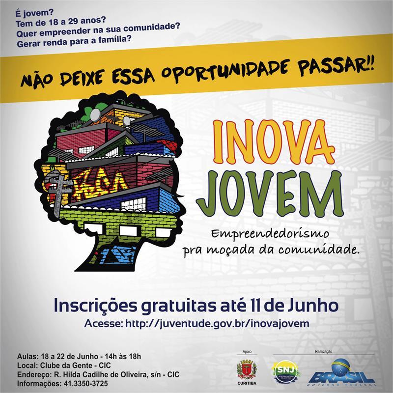 Agora no mês de junho será formada a primeira turma do programa Inova Jovem em Curitiba. Ilustração: Divulgação