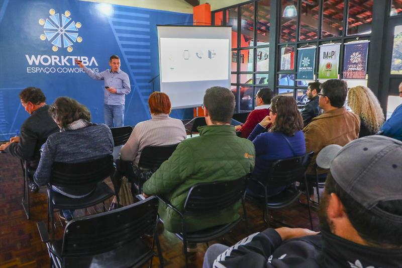 Palestra com Antal Varga, da Zero Perda Treinamentos Gerenciais no ciclo SÓMEI do Worktiba Barigui. - Curitiba, 12/07/2018 - Foto: Daniel Castellano / SMCS