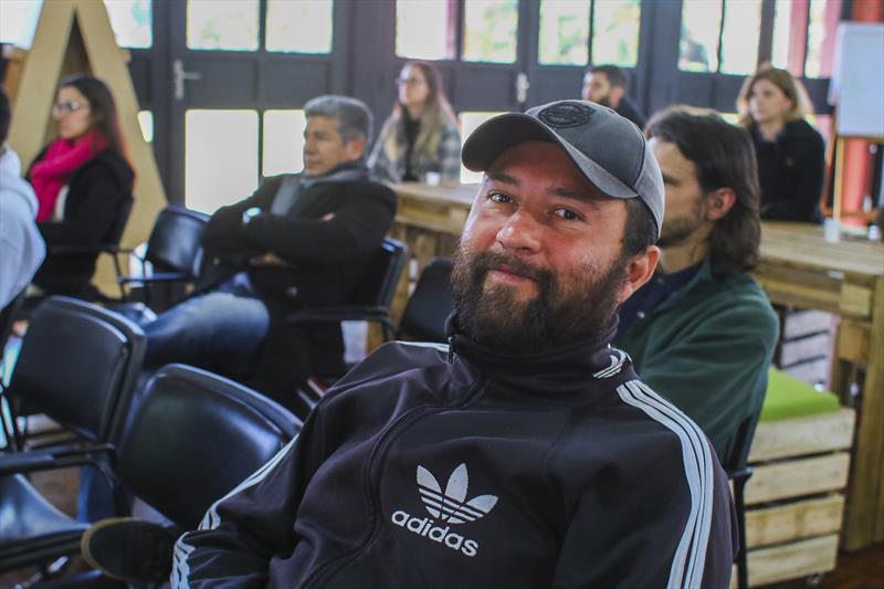 Palestra com Antal Varga, da Zero Perda Treinamentos Gerenciais no ciclo SÓMEI do Worktiba Barigui. Na imagem Anderson Fábio Dore - Curitiba, 12/07/2018 - Foto: Daniel Castellano / SMCS