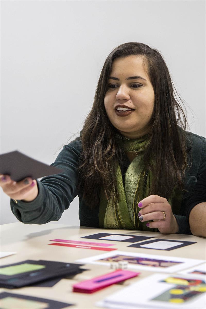 Professores aprendem integrar tecnologias ao ensino da Língua Portuguesa, Ciências e Matemática.  - Na imagem, Marileia Faria. Curitiba, 13/09/2018 -  Foto: Valdecir Galor/SMCS