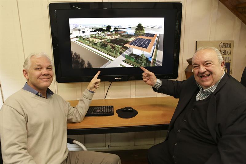 O projeto da Fazenda Urbana de Curitiba foi apresentado ao prefeito Rafael Greca, no Instituto de Pesquisa e Planejamento Urbano de Curitiba (Ippuc). Foto: Casar Brustolin/SMCS