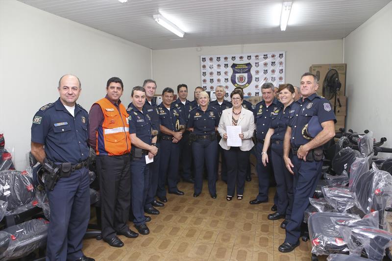 Guarda Municipal compra equipamentos com verba parlamentar da vereadora Maria Manfron. Curitiba, 10/10/2018. Foto:Cesar Brustolin/SMCS