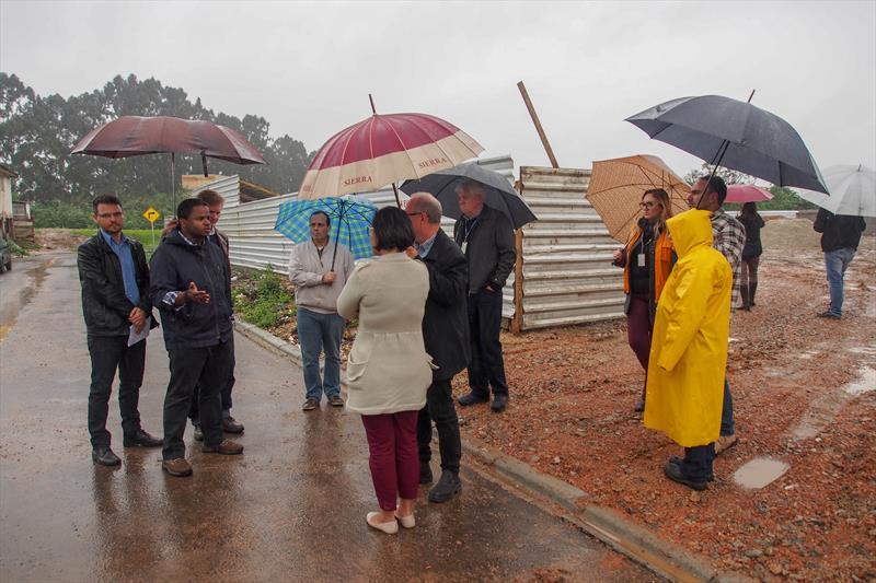 Visita do BID às obras da Cohab. Curitiba, 16/10/18. Foto: Rafael Silva