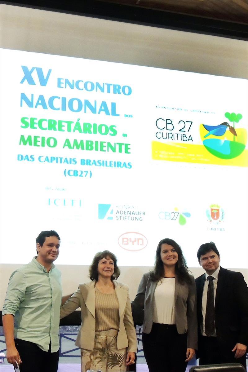XV Encontro Nacional dos Secretários de Meio Ambiente das Capitais Brasileiras (CB27). Curitiba, 22/11/2018. Foto: Valdecir Galor/SMCS