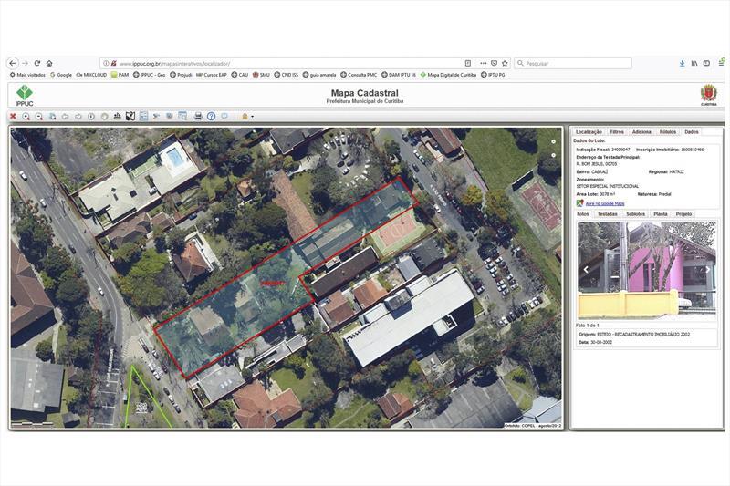 Base cadastral de terrenos e lotes de Curitiba pode ser consultada pela internet.