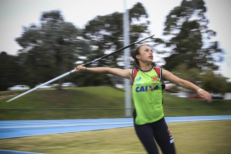 Treino da atleta Yasmin Camille, que vai para o Peru participar dos Jogos Sulamericanos Escolares 2018. Curitiba, 29/11/2018. Foto: Luiz Costa /SMCS.