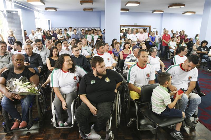 Solenidade de entrega dos prêmios Mérito Esportivo 2018. Curitiba, 11/12/2018 Foto:Cesar Brustolin/SMCS