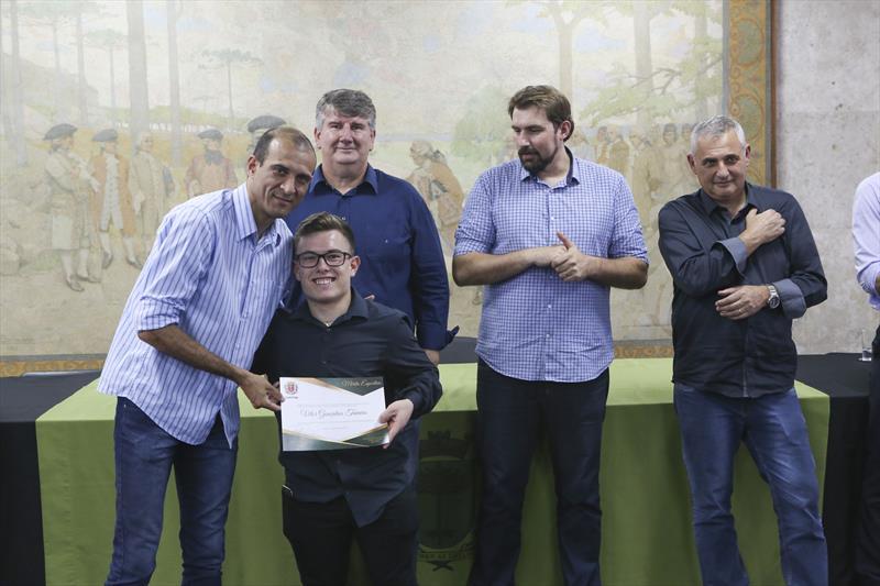 Solenidade de entrega do prêmio  Mérito Esportivo 2018, para os atletas curitibanos que se destacaram ao longo de 2018. Curitiba, 11/12/2018. Foto: Cesar Brustolin/SMCS