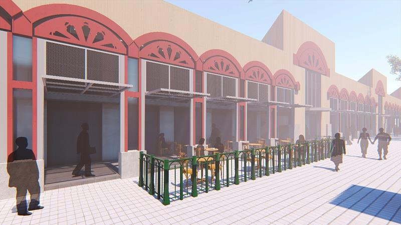 Também finalizou o projeto que permitiu a revitalização da estrutura externa do Mercado Municipal. E avançou na recuperação urbana do Centro com o programa Rosto da Cidade. Ilustração: IPPUC