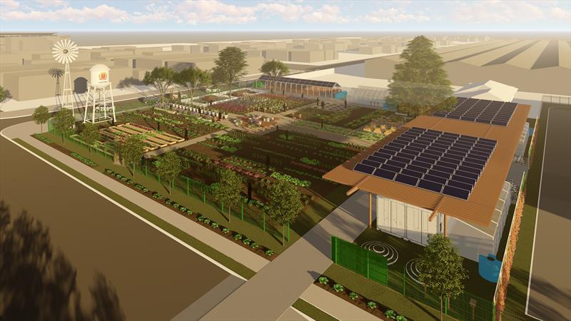 A Smab também finalizou o projeto da Fazenda Urbana, o primeiro centro de agricultura urbana do mundo e que será implantado em 2019.  Ilustração: IPPUC
