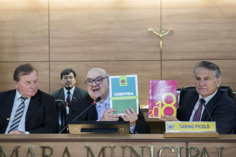 Prefeito Rafael Greca participa da abertura dos trabahos da Câmara Municipal de Curitiba. Curitiba, 04/02/2019. Foto: Valdecir Galor/SMCS