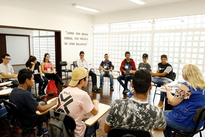 Primeira edição do programa Formação Para o Primeiro Emprego. Curitiba, 11/02/2019.  Foto: Ricardo Marajó/FAS