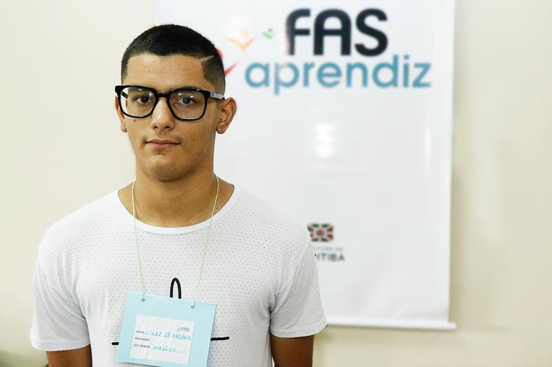 Primeira edição do programa Formação Para o Primeiro Emprego. Na imagem: Lucas de Andrade da Silva . Curitiba - 11/02/2019. Foto: Ricardo Marajó/FAS