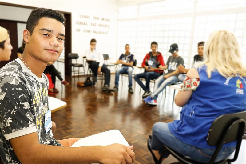 Primeira edição do programa Formação Para o Primeiro Emprego.  - Na imagem, Erick Felipe Gomes da Cruz.   Curitiba, 11/02/2019.  Foto: Ricardo Marajó/FAS
