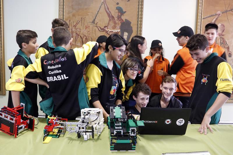 Prefeito Rafael Greca participa do Encontro Nacional da First Lego League. Curitiba, 22/03/2019. Foto: Lucilia Guimarães/SMCS