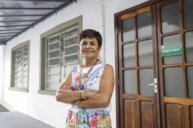 O Instituto de Previdência dos Servidores do Município de Curitiba, o IPMC, celebra o aniversário de 60 anos da instituição.  - Na imagem, Ana Carime Saad, funcionária do ICS.  Curitiba, 02/03/2019. Foto: Pedro Ribas/SMCS