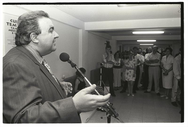 O Instituto de Previdência dos Servidores do Município de Curitiba, o IPMC, celebra o aniversário de 60 anos da instituição.  - Na imagem, o prefeito Rafael Greca inaugura a farmácia do IPMC. Foto: Arquivo Público