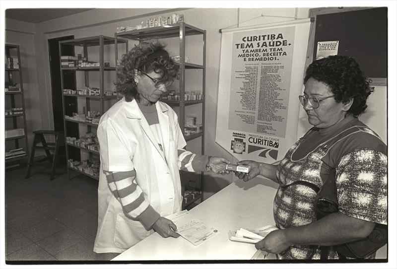O Instituto de Previdência dos Servidores do Município de Curitiba, o IPMC, celebra o aniversário de 60 anos da instituição.  - Na imagem, a farmácia do IPMC. Foto: Arquivo Público