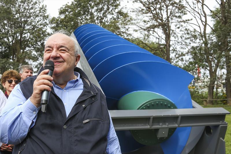 Prefeito Rafael Greca participa da visita à obra da Central Geradora Hidrelétrica Nicolau Klüpel. Curitiba, 10/05/2019. Foto: Luiz Costa/SMCS