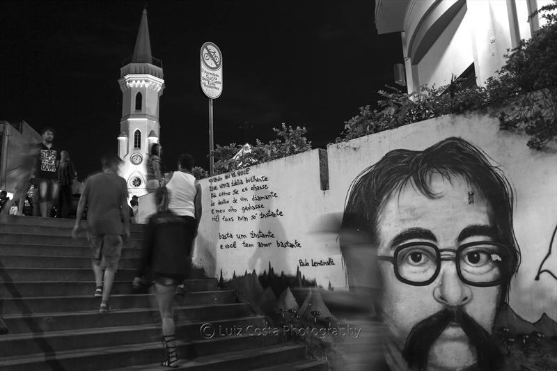 Escadaria da galeria Júlio Moreira. Foto: Luiz Costa /SMCS