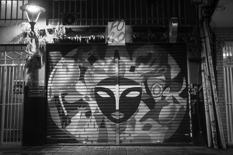 Grafite na Rua São Francisco. Foto: Luiz Costa /SMCS