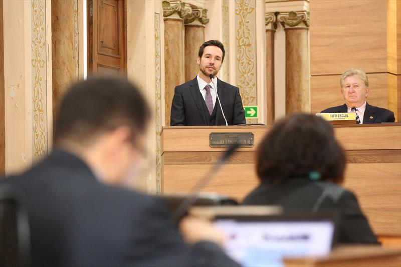 A Prefeitura encaminhou à Câmara de Vereadores a proposta de Lei de Diretrizes Orçamentárias (LDO) com previsão de R$ 9,4 bilhões para 2020. Curitiba, 15/05/2019. Foto: Rodrigo Fonseca/CMC