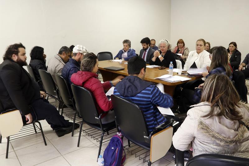 Reunião de negociação sindical na SMRH. Curitiba, 15/05/2019. Foto: Lucilia Guimarães/SMCS