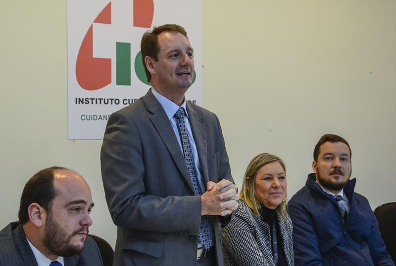Lançamento do plano de saúde empresarial para celetistas do ICS.   - Na imagem, Presidente Urbs, Ogeny Pedro Maia Neto. Curitiba, 29/05/2019. Foto: Levy Ferreira/SMCS