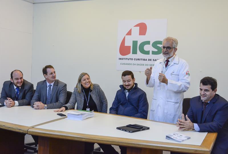 Lançamento do plano de saúde empresarial para celetistas do ICS.   - Na imagem, o diretor de Assistência à Saúde, Omar Barghouthi. Curitiba, 29/05/2019. Foto: Levy Ferreira/SMCS