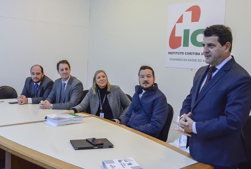Lançamento do plano de saúde empresarial para celetistas do ICS.   - Na imagem, o diretor da  Administração Financeira do ICS, Elcio Casagrande. Curitiba, 29/05/2019. Foto: Levy Ferreira/SMCS