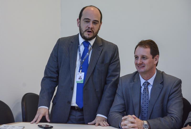 Lançamento do plano de saúde empresarial para celetistas do ICS.  - Na imagem, o assistente jurídico, Daniel Falcão. Curitiba, 29/05/2019. Foto: Levy Ferreira/SMCS