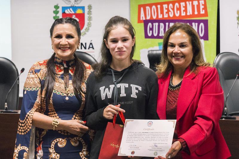 Premiação de redação  com tema Prevenção de Gravidez na Adolescencia. Curitiba, 29/05/2019 Foto: Valdecir Galor/SMCS