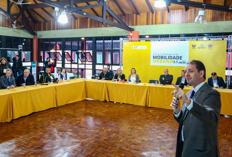 Fórum Paranaense de Mobilidade Urbana, no Parque Barigui. Na imagem presidente da Urbs, Ogeny Pedro Maia Neto - Curitiba, 31/05/2019 - Foto: Daniel Castellano / SMCS