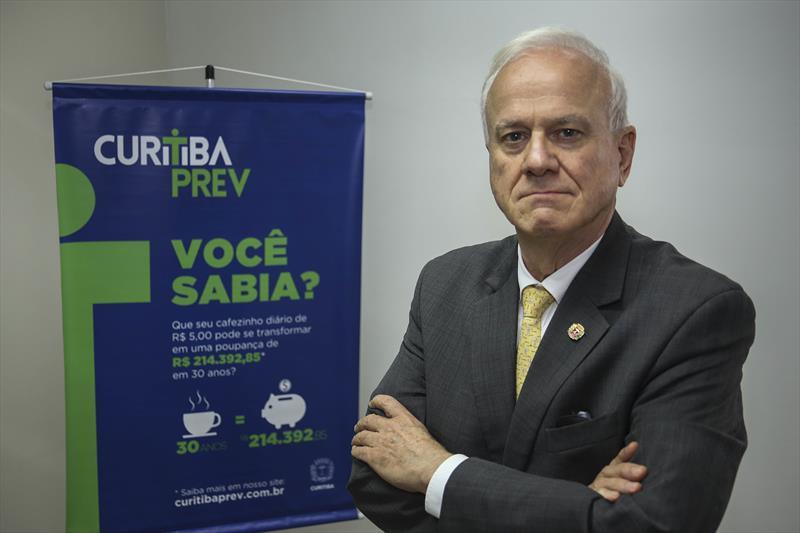 Presidente da Fundação de Previdência Complementar do Município de Curitiba, CuritibaPrev, José Luiz Costa Taborda Rauen. Curitiba, 03/06/2019. Foto: Luiz Costa /SMCS