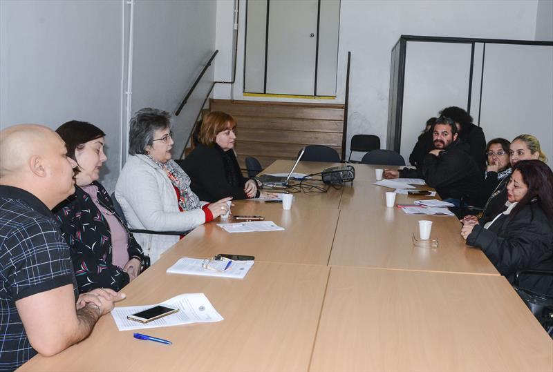 Reunião de Negociação na Secretaria de Recursos Humanos, com os dirigentes do Sindicato dos Servidores Públicos Municipais de Curitiba (Sismuc).  Curitiba, 06/06/2019. Foto: Levy Ferreira/SMCS