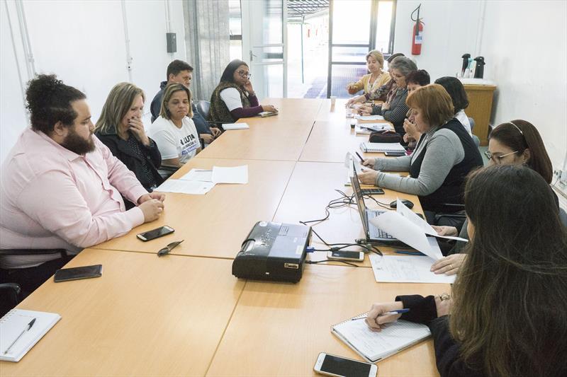 Reunião RH e Sismuc para classe dos Agentes de Combate de Endemias. Curitiba, 12/06/2019. Foto: Valdecir Galor/SMCS