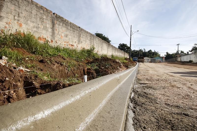 Obras da rua Francisco Xavier de Oliveira, no Tatuquara. Curitiba, 13/06/2019. Foto: Lucilia Guimarães/SMCS