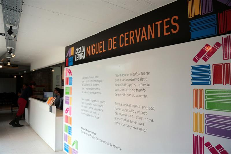 Casa da Leitura oferece sábado especial em clima de festa junina  - Na imagem, Casa da Leitura Miguel de Cervantes. Foto: Cido Marques/FCC