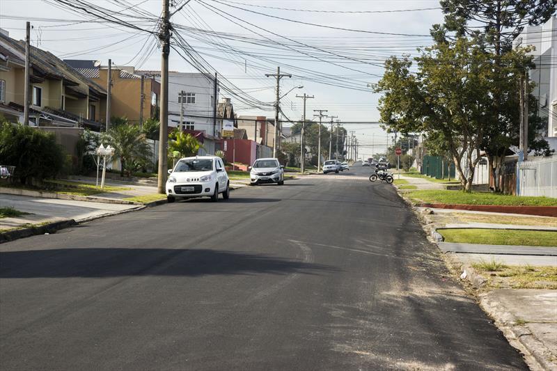 Asfalto na Rua Hassib Jezzini, Fanny. Curitiba, 13/06/2019. Foto: Valdecir Galor/SMCS