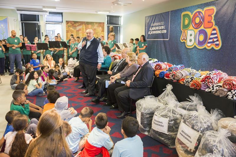 Prefeito Rafael Greca participa da campanha Doe a Boa. Curitiba, 17/06/2019 Foto: Valdecir Galor/SMCS